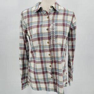 NWT Carhartt Plaid Multicolor Button Shirt Small